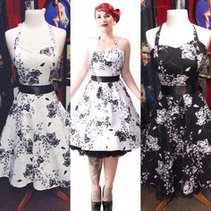 This dress embodies the wholesome side of 50's pin up style. #blamebetty #50s #dress