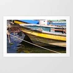 botes Art Print by Marcela Ponce - $18.72 Isla de Pascua