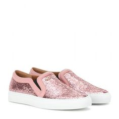 Givenchy - Low Skate glitter slip-ons #shoes #givenchy #women #covetme
