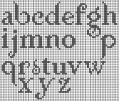 cross stitch alphabet (twilight, but still pretty--needs upper-case)