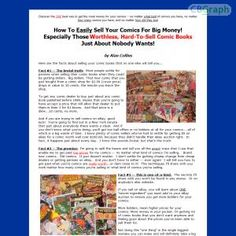 Secrets For Cashing In On Comic Books - Especially Those Worthless, Hard-to-sell Comics That No One Wants! See more! : http://get-now.natantoday.com/lp.php?target=2344penn