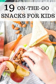 As a family constantly on-the-go with work school extracurricular activities and errands it feels like were always running somewhere. While we are going places it never fails that my kids will be hungry and want a snack. Nutritious Snacks, Healthy Snacks, Healthy Recipes, Kid Recipes, On The Go Snacks, Fun Snacks For Kids, Food Kids, Family Meals, Kids Meals