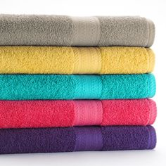 Bath accessories at Kohl's - Shop our full line of bath essentials, including these The Big One Solid Bath Towels, at Kohl's. School Decorations, Water Supply, Bath Remodel, Bath Accessories, Bath Time, Towel Set, Cozy House, Home Textile, Hand Towels