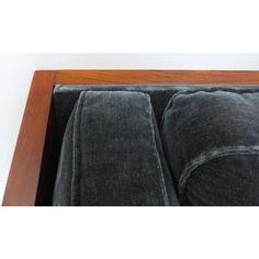 Fine Mid-Century Modern Wood Tuxedo Sofa Attributed to Milo Baughman Milo Baughman, Wood Sofa, Tuxedo, Sofas, Mid-century Modern, Mid Century, Frame, Design, Wooden Sofa