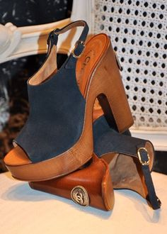 This Pin was discovered by Toby Rollheiser. Discover (and save!) your own Pins on Pinterest. | See more about vintage chanel, wedge shoes and chanel.