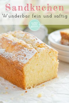 Saftiger Sandkuchen Granny's sand cake is super simple, but the sand cake is always delicious. This classic sand cake recipe gives a guaranteed non-dry variant of the traditional sponge cake! classic # mass of sand Quick Dessert Recipes, Easy Cookie Recipes, Baking Recipes, Cake Recipes, Sand Cake, Cupcakes, Recipe For 4, Basic Recipe, Food Cakes