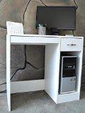 #3: Schreibtisch Computertisch PC Tisch Bürotisch Weiß MDF CT145C - http://www.xn--brombel-profi-lmb0g.com/schreibtische/3-schreibtisch-computertisch-pc-tisch-buerotisch-weiss-mdf-ct145c