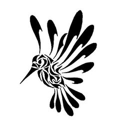 Colibri tattoo designs for women and men. Colibri tattoos of different sizes, shapes and colors. Colibri tattoos made on different body parts. Bird Outline, Tattoo Outline, Tribal Tattoos, Tatoos, Duck Tattoos, Tattoo Painting, Muster Tattoos, Hummingbird Tattoo, Tattoo Bird