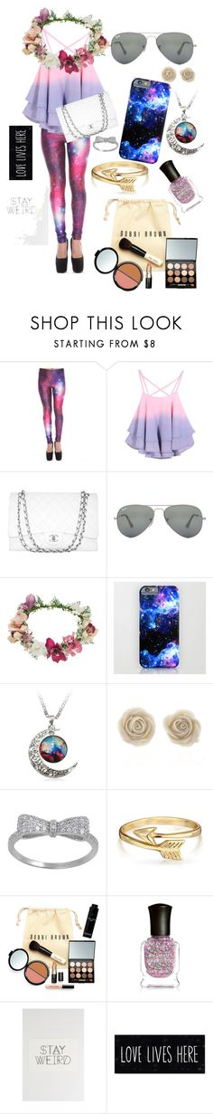 """""""Stay Weird"""" by abandoned-leftpolyvore ❤ liked on Polyvore featuring Chanel, Ray-Ban, Topshop, Bling Jewelry, Bobbi Brown Cosmetics and Deborah Lippmann"""