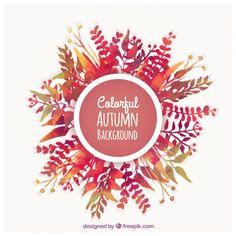 カラフルな秋の背景 無料ベクター