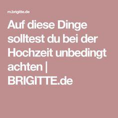 Auf diese Dinge solltest du bei der Hochzeit unbedingt achten | BRIGITTE.de