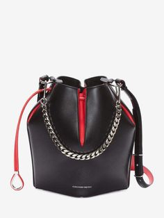 Shop Women  s Black Lust Red The Bucket Bag from the official online store  of iconic fashion designer Alexander McQueen. 70f93a1741c0f