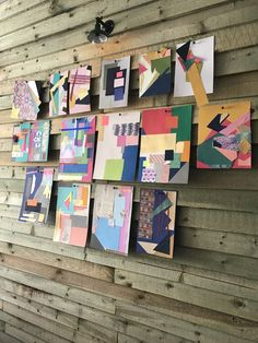 Colour workshop held by Sophie Robinson. Paper collage work to explore how we are drawn to different colours and playing with composition to form ideas about how to colour scheme