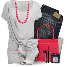 Kate Spade Pink & Grey by casuality on Polyvore featuring moda, Bench, Burberry, Kate Spade, NARS Cosmetics, Lord & Berry, F and rustic