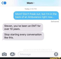 30 Epic Funniest Text Message Responses Fail Ever 16 Mothers And Daughters Who Sent Each Other Some Seriously Funny Texts Outstanding move 37 Funny Text Messages - 27 Texts Hilarious Memes can't stop Laughing 40 Funny Text Messages For You If You D. Funny Texts Jokes, Text Jokes, Stupid Funny Memes, Funny Relatable Memes, Funny Posts, Hilarious, Funny Stuff, Mom Funny, Funny Things