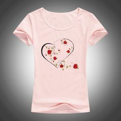 Just launched! summer fashion cotton t shirt women LOVE Rose wreath printed O-Neck short sleeve tops tees camiseta 1890 http://get-n-give-love.myshopify.com/products/summer-fashion-cotton-t-shirt-women-love-rose-wreath-printed-o-neck-short-sleeve-tops-tees-camiseta-1890?utm_campaign=crowdfire&utm_content=crowdfire&utm_medium=social&utm_source=pinterest