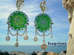 Special offer • Lucky mandala earring on SALE: http://www.etsy.com/es/listing/191662283