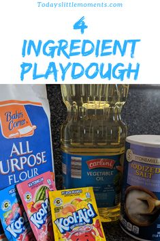 4 ingredients, homemade playdough, easy and simple to make, kid-friendly, safe for babies Activities For 1 Year Olds, Activities To Do, Toddler Activities, Easy Playdough Recipe, Homemade Playdough, Family Night, Winter Fun, Autumn Theme, Kids Learning