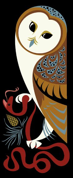 Barn owl, Plankton Art Co.