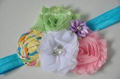 Yellow Headband,Pink headband,Baby headband,Mint Green headband,Toddler headband,Lilac headband, Shabby chic headband, Newborn headband,girl