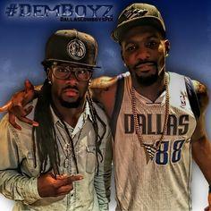 #DemBoyz @dwayneharris and @dezbryant repping the @dallasmavs #DallasMavericks #YayYay #ThrowUpDaDreads #DreadTheX #DreadDaDreads #ThrowUpTheX #DwayneHarris #DezBryant #DallasCowboysPix #DallasCowboys #WeDemBoyz #CowboysNation