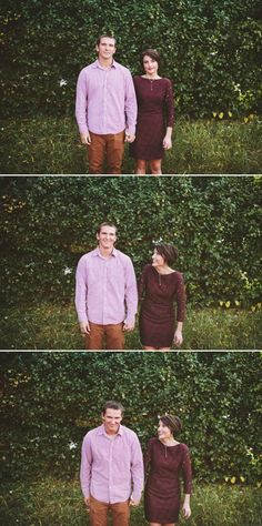 Franklin engagement photographers. Short maroon dress. Short hair. Couples photography. Photojournalistic.