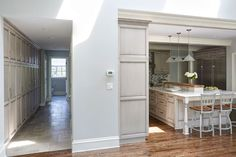 Painted-Warm-Grey-Kitchen-in-Winnetka-1a
