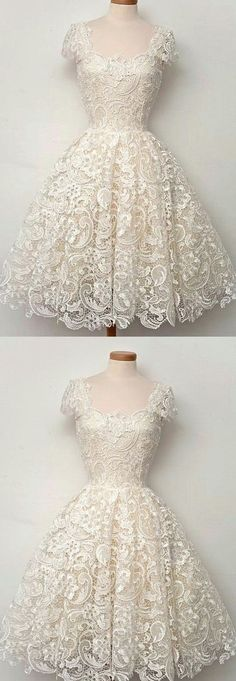So lacy!! Don't know if I'm really a fan of so much lace, but I would give this dress a go. #shortpromdresses