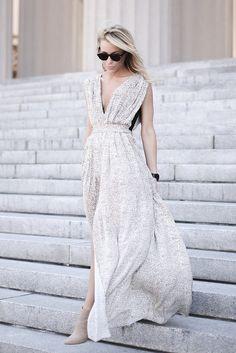 pretty pleated maxi dress bmodish