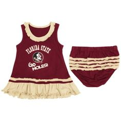 Florida State Seminoles Girls Infant Coda Ruffle Tank Dress – Garnet