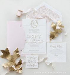 Kara Anne Paper Custom Wedding Suite  www.karaannepaper.com