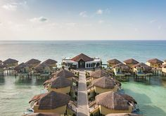 Book a vacation package at Palafitos Overwater Bungalows by Karisma with Air Canada Vacations. Overwater Bungalows, Vacation Packages, Riviera Maya, Beach Resorts, Cancun, Vacations, Mexico, Inspirational, Mansions