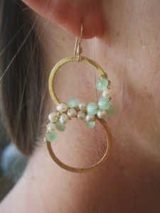 custom earrings. Anne Marie you rock my world!