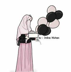 Muslim Girls, Muslim Women, Girl Cartoon, Cartoon Art, Hijab Drawing, Chibi Wallpaper, Islamic Cartoon, Bff Drawings, Hijab Cartoon