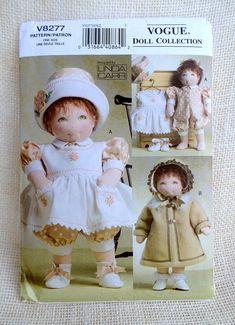 Vogue V8277 doll pattern sewing Linda Carr doll pinafore
