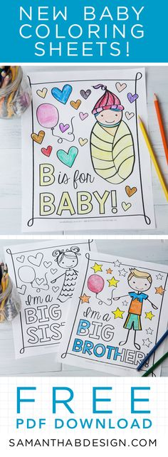 The perfect Baby Shower Activity for all ages -- Make an ABC - best of welcome baby coloring pages