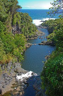Haleakala National Park, Maui, Hawaii - seven pools in ʻOheʻo Gulch