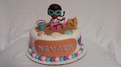 Doc McStuffins cake. This was a strawberry cake with Swiss buttercream covered in fondant.