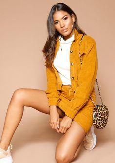 fbc2b5bffe1 Missyempire - Marlie Mustard Corduroy Jacket Corduroy Skirt, Corduroy  Jacket, Piece Of Me,