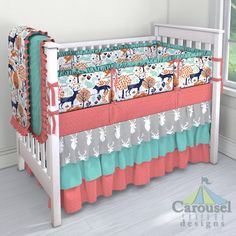 Carousel Designs Taupe And Windsor Navy Baby Woodland Crib Sheet