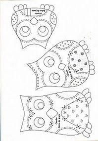 Patrón bordado búhos
