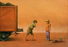 La máquina de producir ruinas: Kuczynski y la sátira de la esclavitud moderna