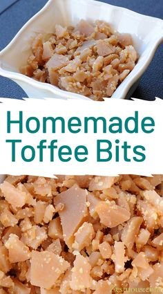 Homemade toffee bits are so easy to make, and they taste so much better than the store bought bag 'o bits. Use them in cookies, in muffins or on ice cream. via Homemade Toffee Bits Toffee Bark, Almond Toffee, Toffee Candy, Toffee Cookies, Saltine Toffee, Homemade Toffee, Homemade Candies, Toffee Bits Recipe, English Toffee Recipe