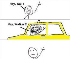 Troll Face Meme - Hey Taxi