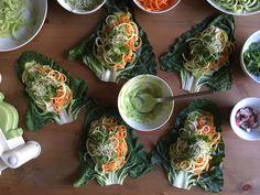 wraps crudivegans pas 03 Wraps, Fresh Rolls, Vegan Vegetarian, Cabbage, Vegetables, Ethnic Recipes, Food, Tasty, Essen