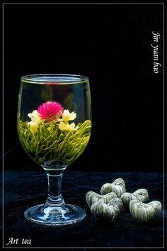 12pcs of the Gomphrena globosa blooming flower tea balls, individual vacuum package, handmade artistic tea