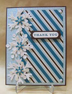 Savvy Handmade Cards: Layered Snowflakes Thank You Card