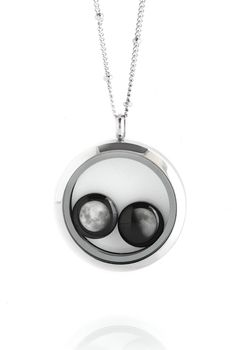 The Lovers In a Locket Moonglow Necklace | Moonglow Jewelry  Custom Order available at Carnaby Street Style http://carnabystreetstyle.com/