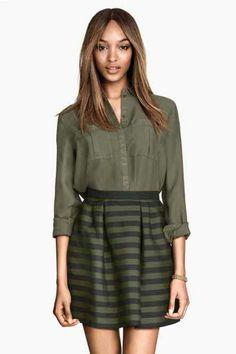 495a4e768b02f7 Jupe H & M Young Mom Outfits, Cozy Fashion, H&m Fashion, Winter Fashion