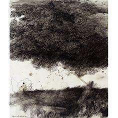 Safet Zec - Sotto l'albero -  Acquaforte puntasecca 1993
